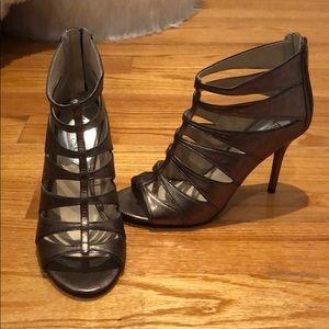 Michael Kors silver metallic heels